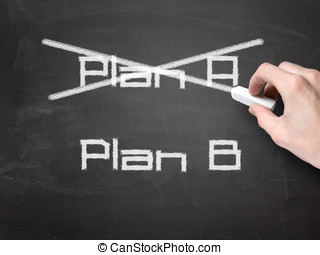 Plan B concept on blackboard