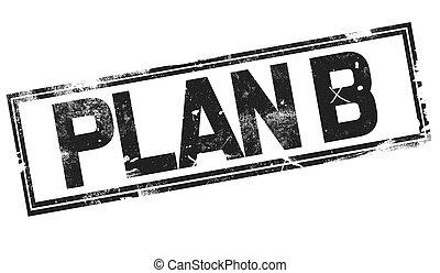 Plan B word with black frame