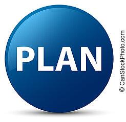 Plan blue round button