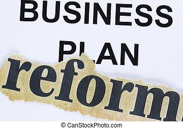 plan, business, reform