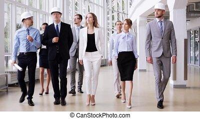 plan, casques, 59, bureau, equipe affaires