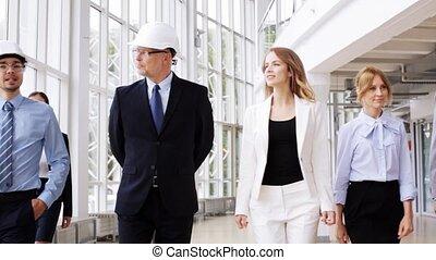 plan, casques, bureau, business, 55, équipe