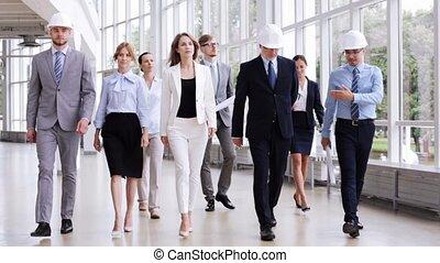 plan, casques, bureau, business, 57, équipe