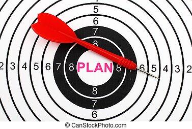 plan, cible, concept