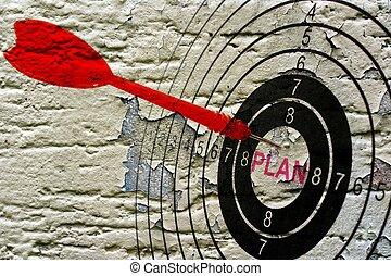 plan, cible, grunge, concept
