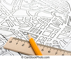 plan city - architectural drawings plan city river concept