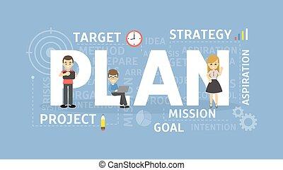 Plan concept illustration.