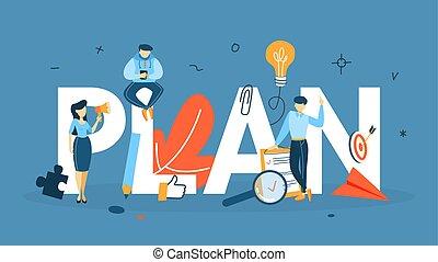 Plan concept illustration