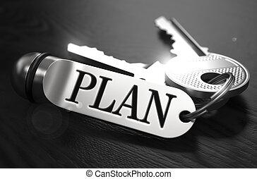 Plan Concept. Keys with Keyring.