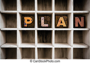 Plan Concept Wooden Letterpress Type in Drawer