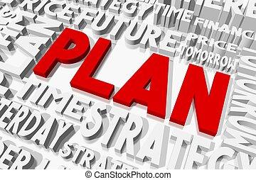 plan, concepto