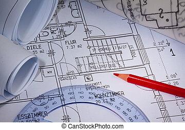 plan, construction, house.