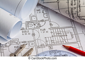 plan, construction, house.