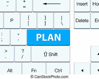 Plan cyan blue keyboard button