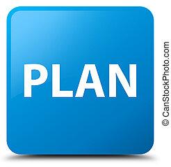 Plan cyan blue square button