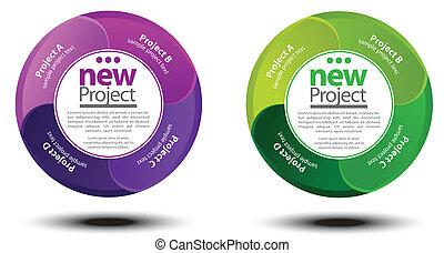 plan, diagramme, projet, cercle