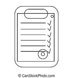 Plan document icon, outline style