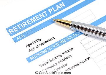 plan, document, retraite