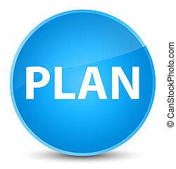 Plan elegant cyan blue round button