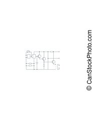 plan, elektrisch, circuit