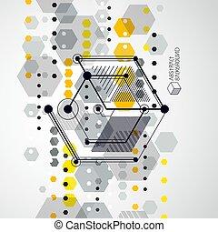 plan, fait, cubes., technologique, arrière-plan numérique, ...