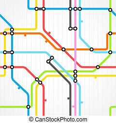 plan, fond, seamless, métro