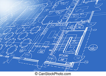 Plan generated by computer - blueprint