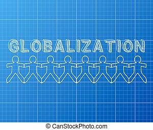 plan, globalisation, gens