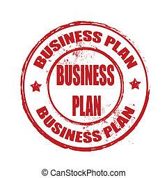 plan, handlowy, tłoczyć