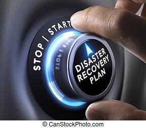plan, herstel, ramp, -, drp