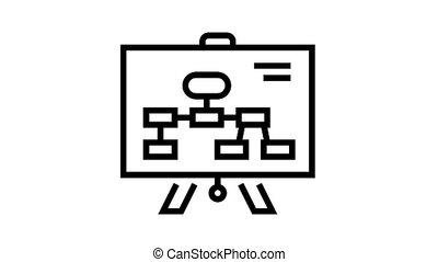 plan, icône, animation, ligne, présentation