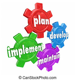 Plan Implement Develop Maintain Gears Organization Strategy...