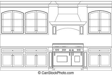k che illustrationen und clip art k che. Black Bedroom Furniture Sets. Home Design Ideas