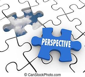 plan, laissez perplexe morceau, réussi, vision, perspective, solution