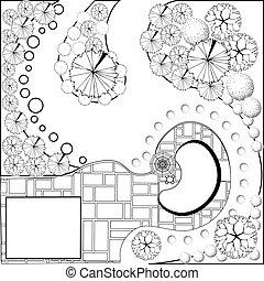 plan, landscape