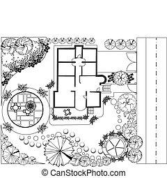 plan, landschaftsbild