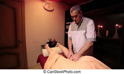 plan., marques, girl, gauche, masseur, masage, leg., homme, moyenne