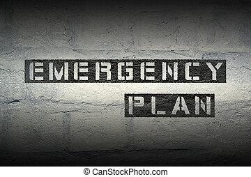 plan, notfall, gr