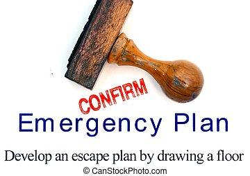 plan, notfall