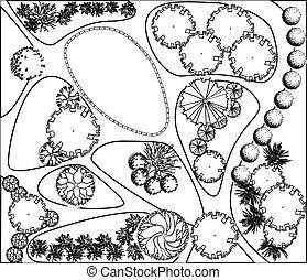 Plan of garden