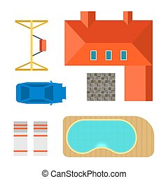 Plan of private house vector illustration