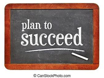 plan, om te slagen, motivational, tekst