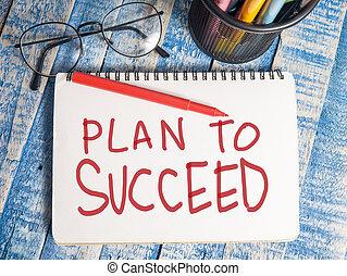 plan, om te slagen, motivational, woorden, citaten, concept