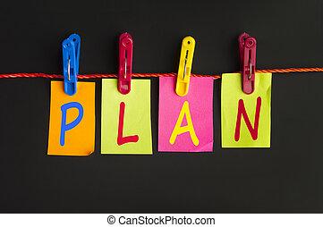 plan, palabra