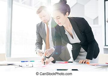 plan planistyczny, startup, handlowy zaludniają