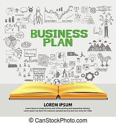 plan, planowanie, życie, handlowy