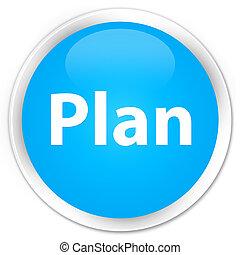 Plan premium cyan blue round button