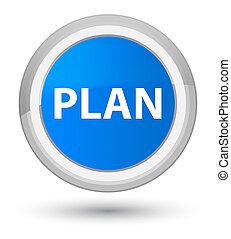 Plan prime cyan blue round button