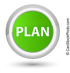 Plan prime soft green round button