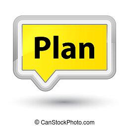 Plan prime yellow banner button